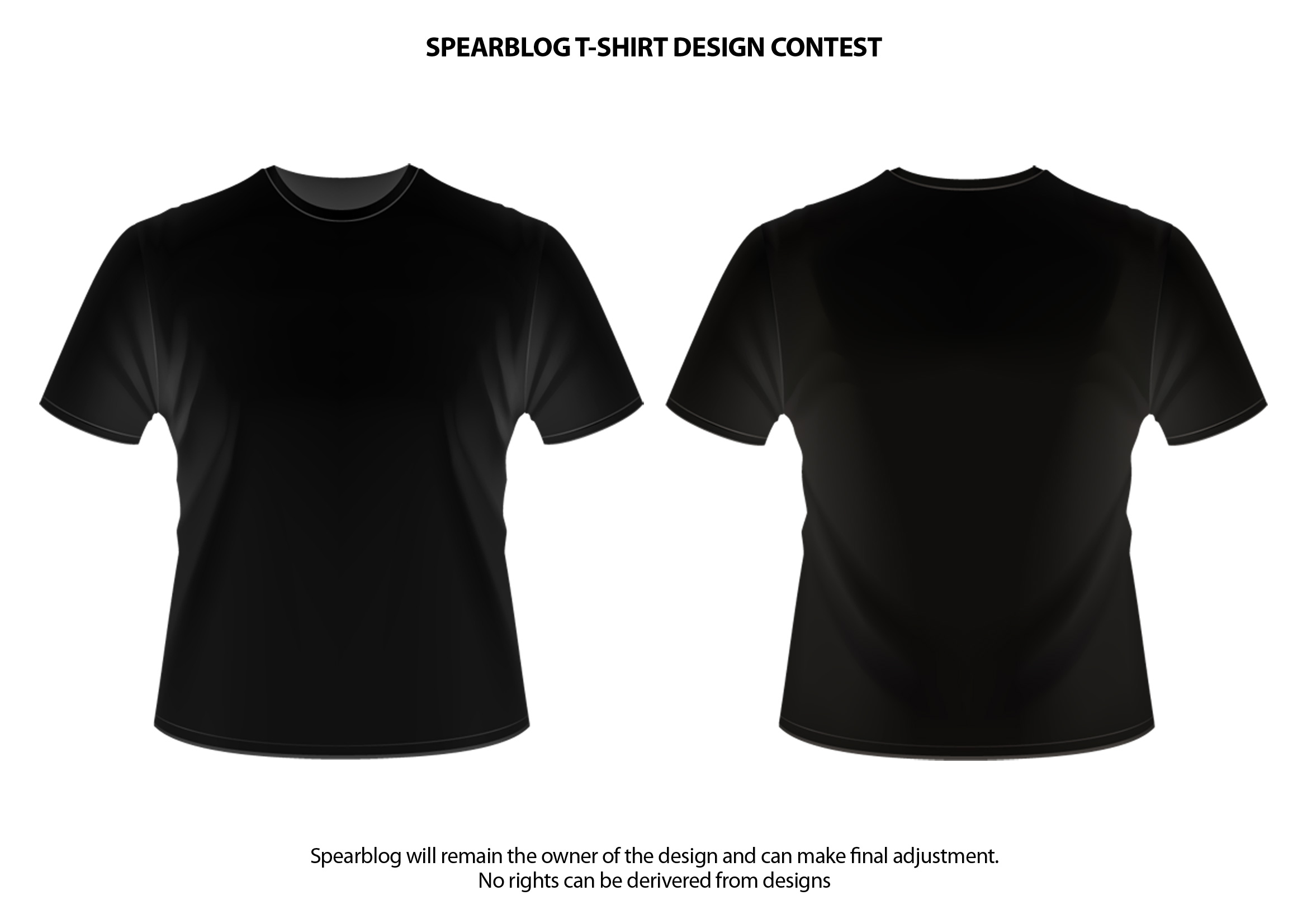 black t shirts template - photo #1