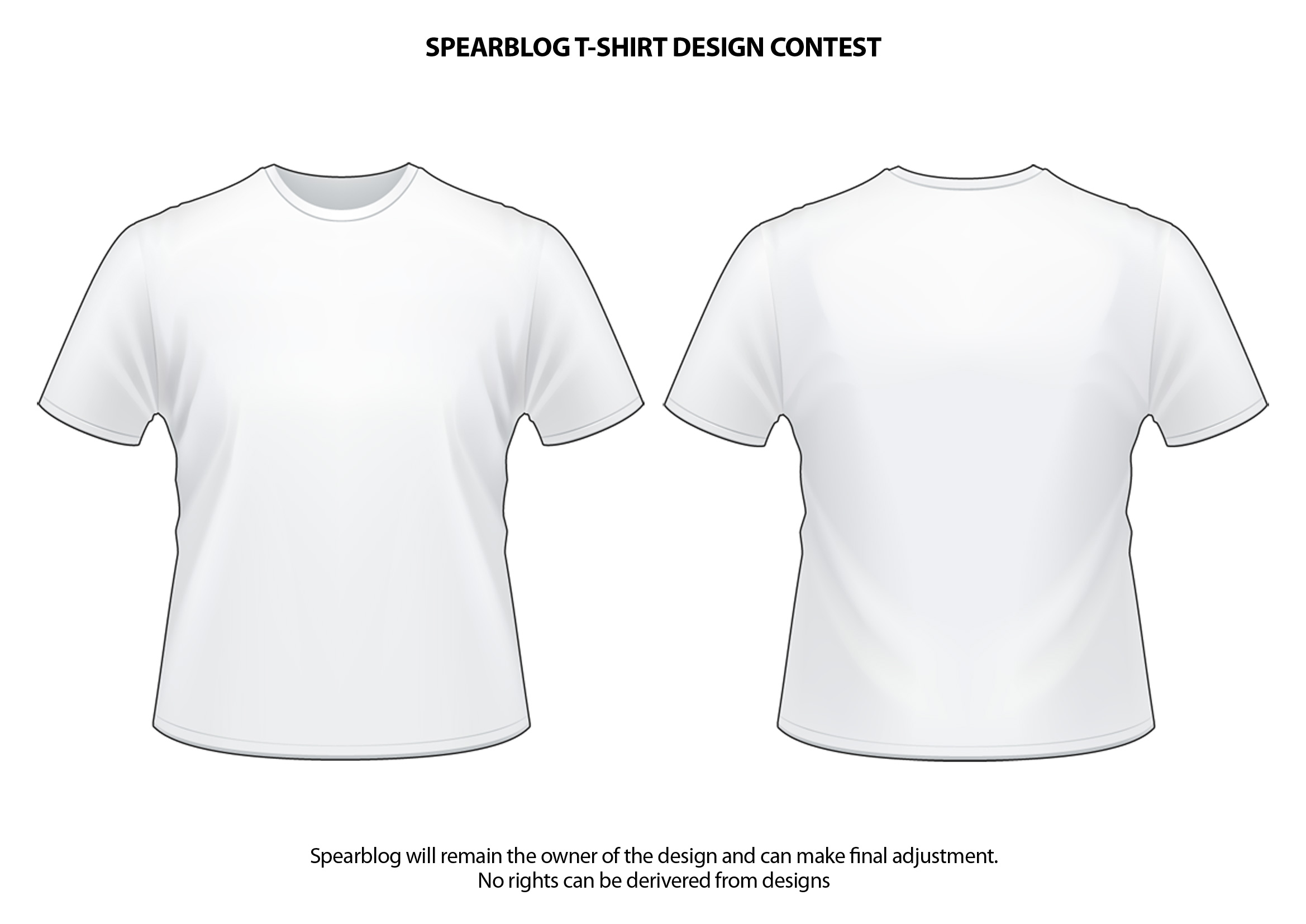 Spearblog TShirt And Logo Design Competition SpearBlog - Design a shirt template